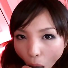 Sexy Arisa Suzuki likes to tease. She will playfully kiss her mans...